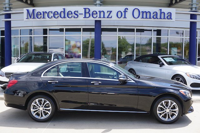 Certified pre owned 2015 mercedes benz c class c 300 sedan for Mercedes benz of omaha used cars