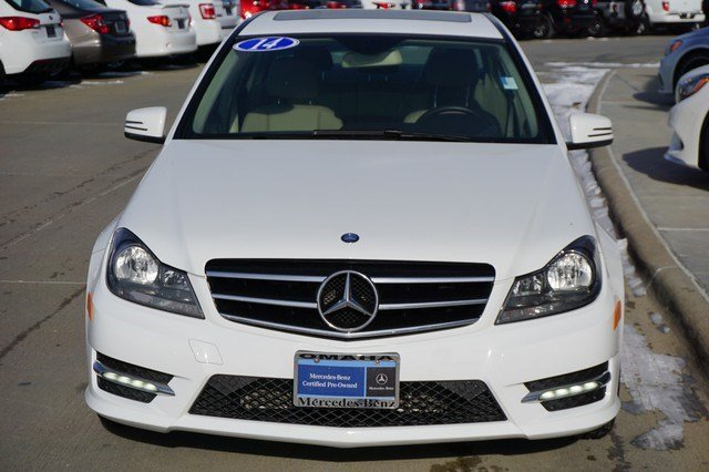 Certified pre owned 2014 mercedes benz c class 4dr car in for Mercedes benz of omaha used cars
