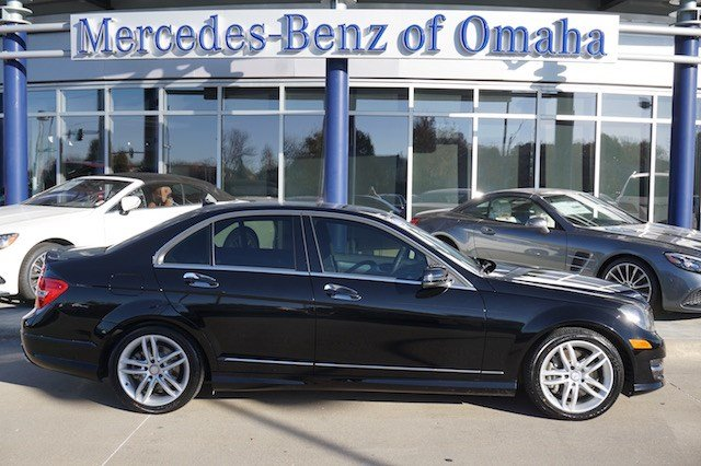 Certified pre owned 2014 mercedes benz c class 4dr sdn for Mercedes benz of omaha used cars