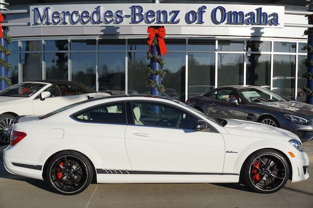 Certified pre owned 2014 mercedes benz c class c63 amg for Mercedes benz of omaha used cars