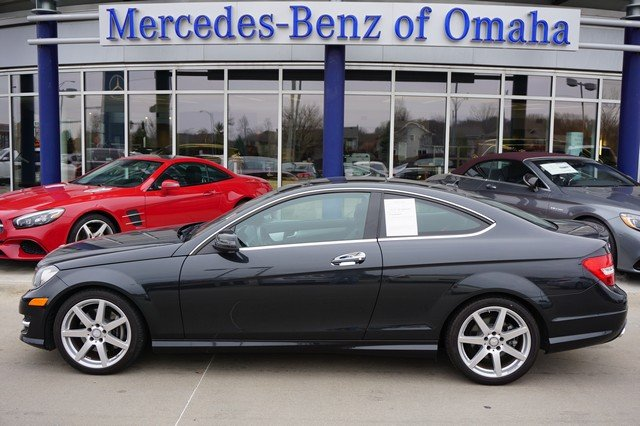 Pre owned 2015 mercedes benz c class c 350 2dr car in for Mercedes benz of omaha used cars