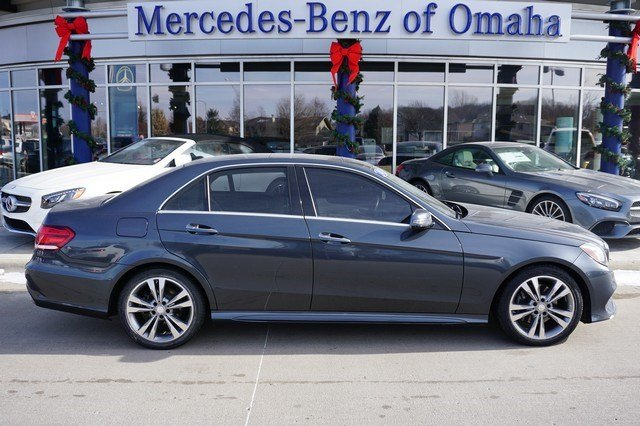 Certified pre owned 2014 mercedes benz e class 4dr car in for Mercedes benz of omaha used cars